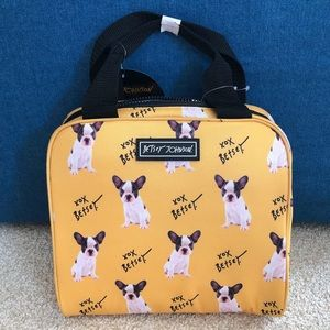Betsey Johnson Bulldog Insulated Lunch Tote